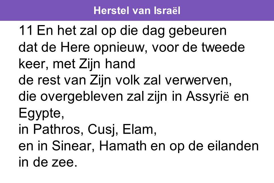 Herstel van Israël