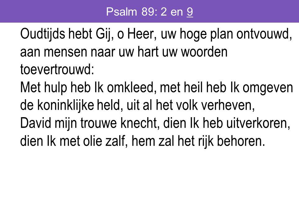Psalm 89: 2 en 9