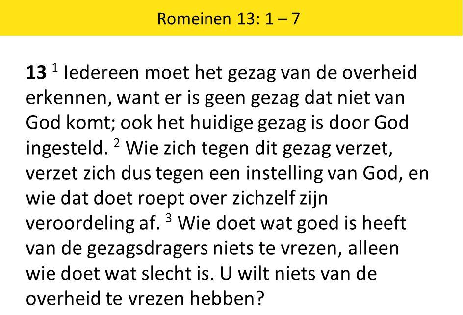 Romeinen 13: 1 – 7