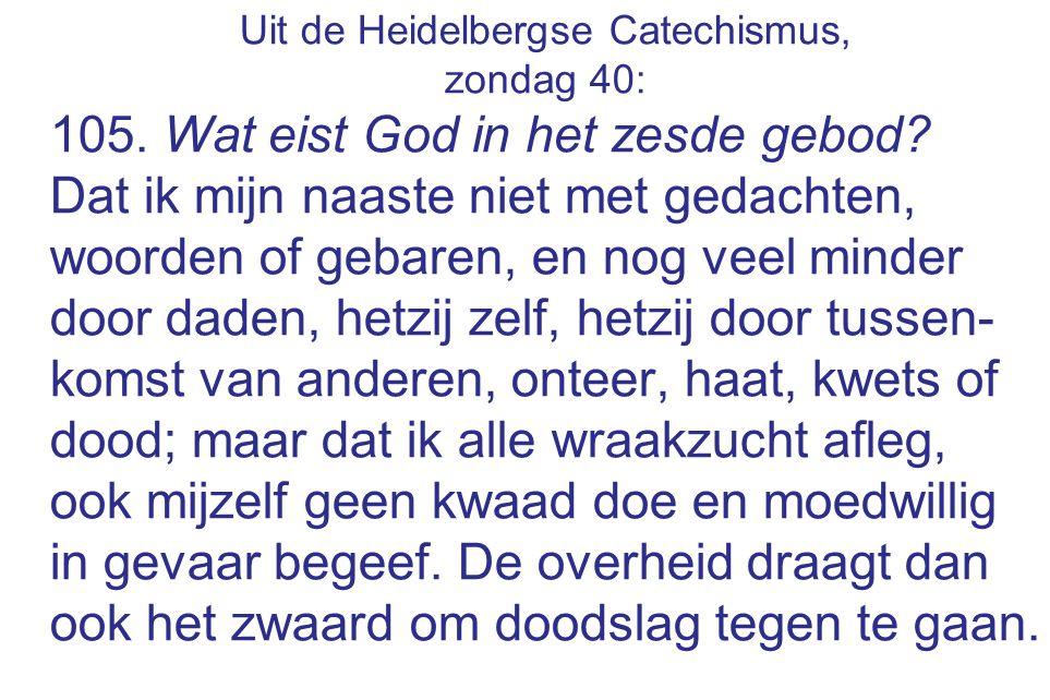 Uit de Heidelbergse Catechismus,