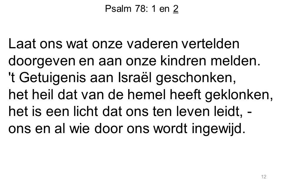 Psalm 78: 1 en 2
