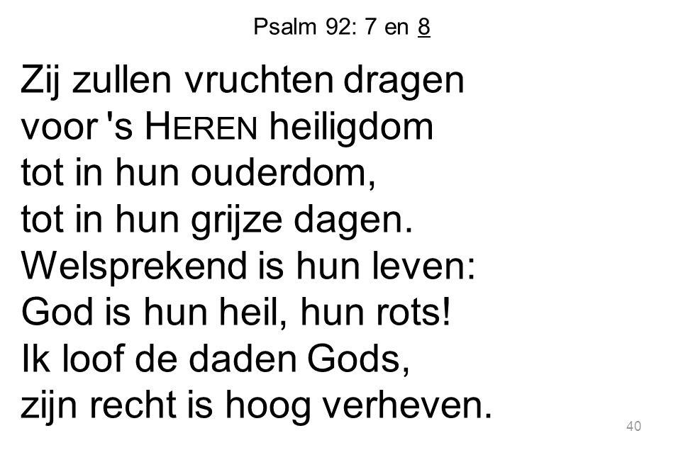 Psalm 92: 7 en 8
