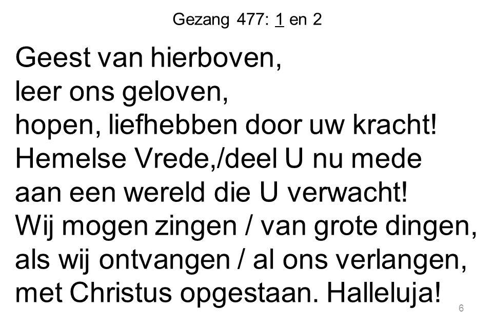 Gezang 477: 1 en 2
