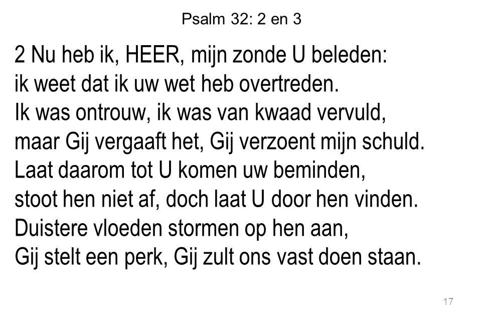 Psalm 32: 2 en 3