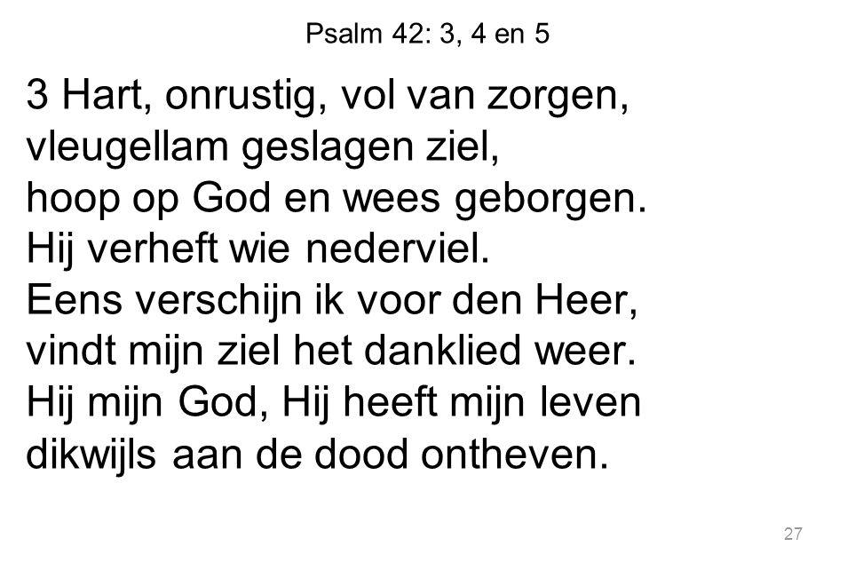 Psalm 42: 3, 4 en 5