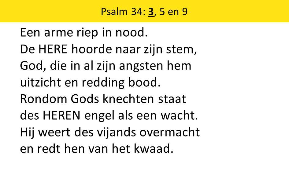Psalm 34: 3, 5 en 9
