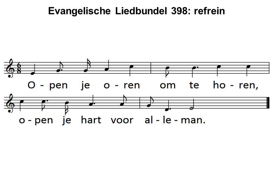 Evangelische Liedbundel 398: refrein
