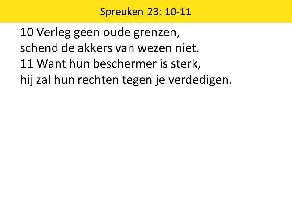 Spreuken 23: 10-11