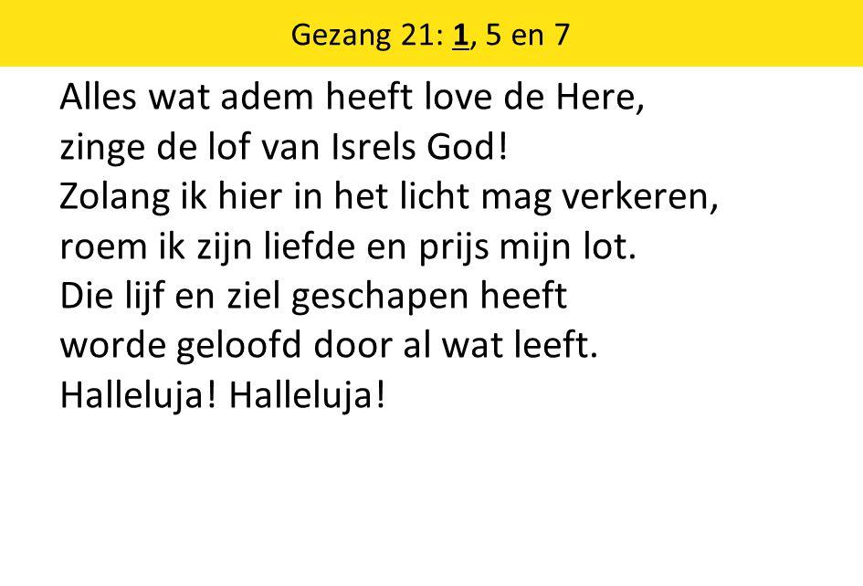 Gezang 21: 1, 5 en 7