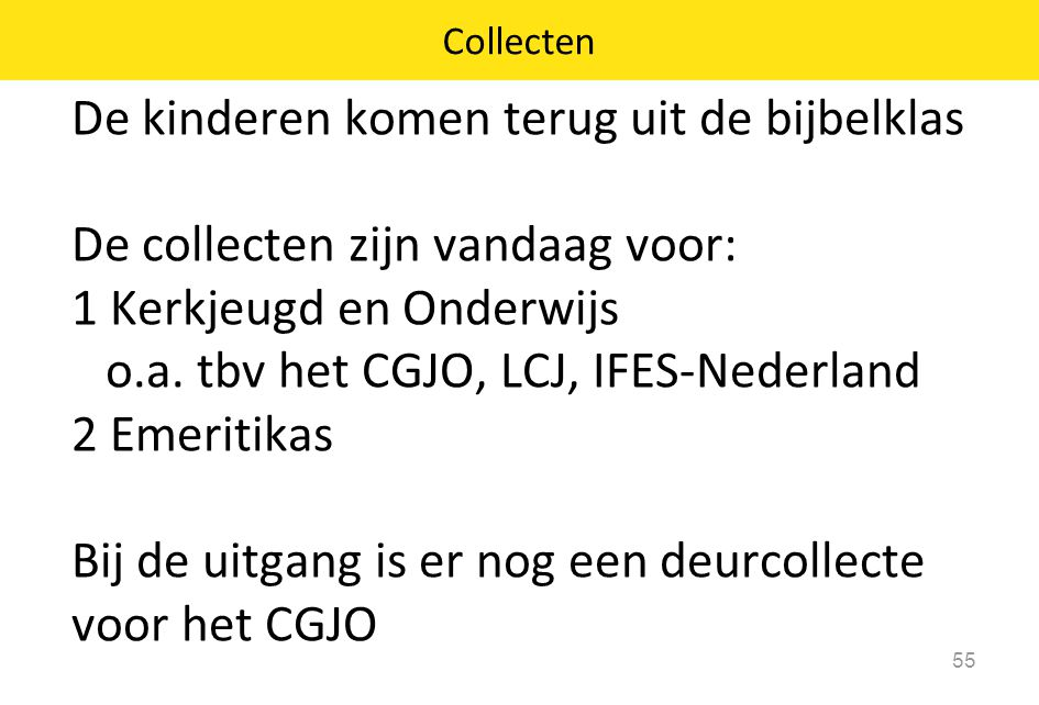 Collecten