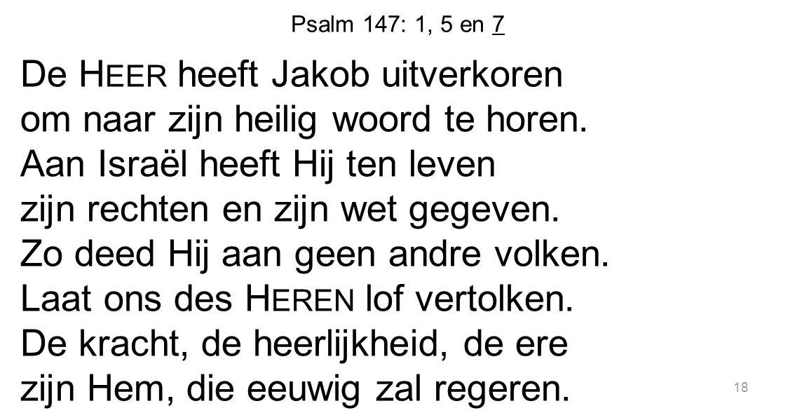 Psalm 147: 1, 5 en 7