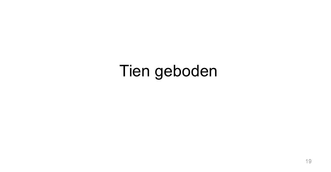 Tien geboden