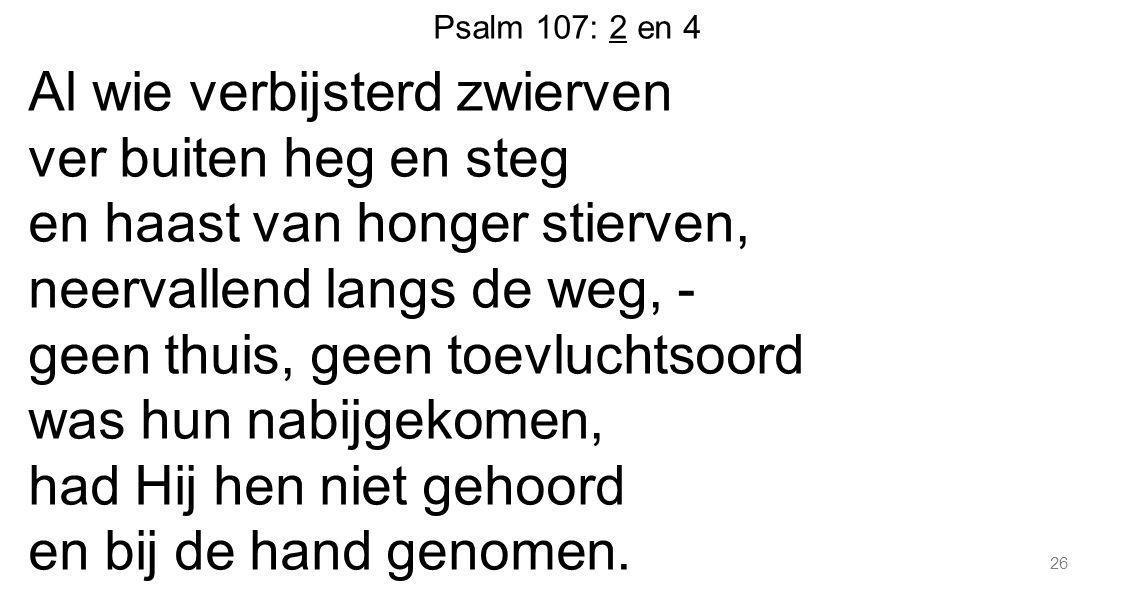 Psalm 107: 2 en 4