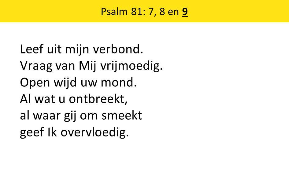 Psalm 81: 7, 8 en 9