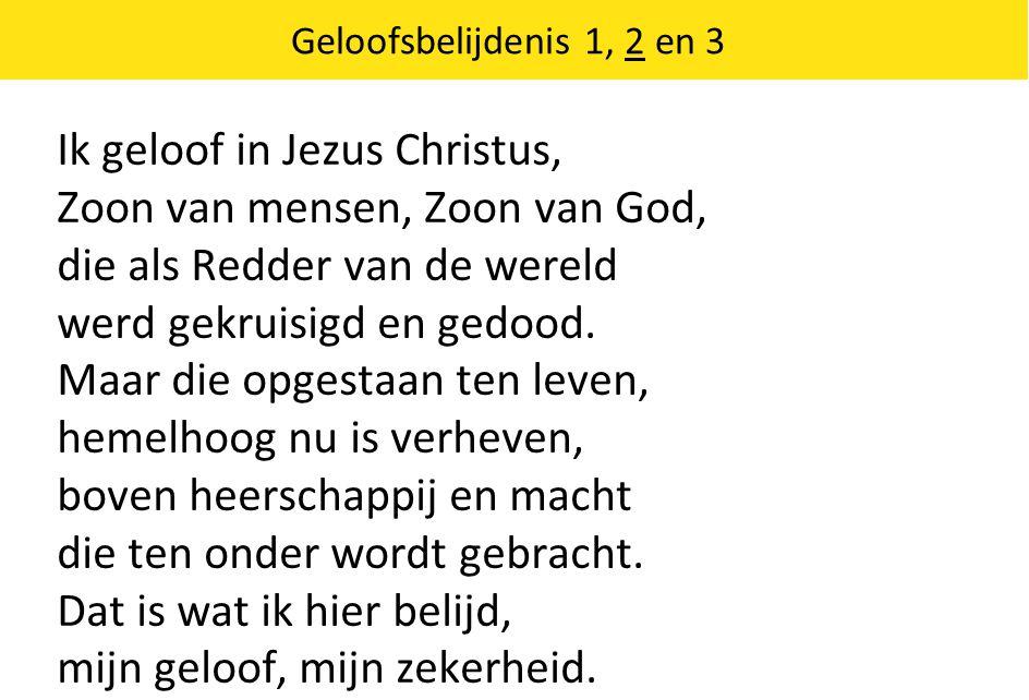 Ik geloof in Jezus Christus, Zoon van mensen, Zoon van God,