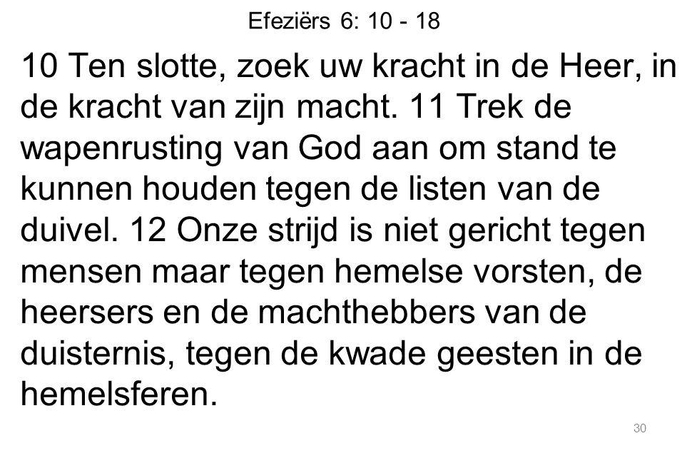 Efeziërs 6: 10 - 18