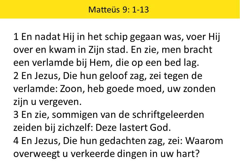 Matteüs 9: 1-13