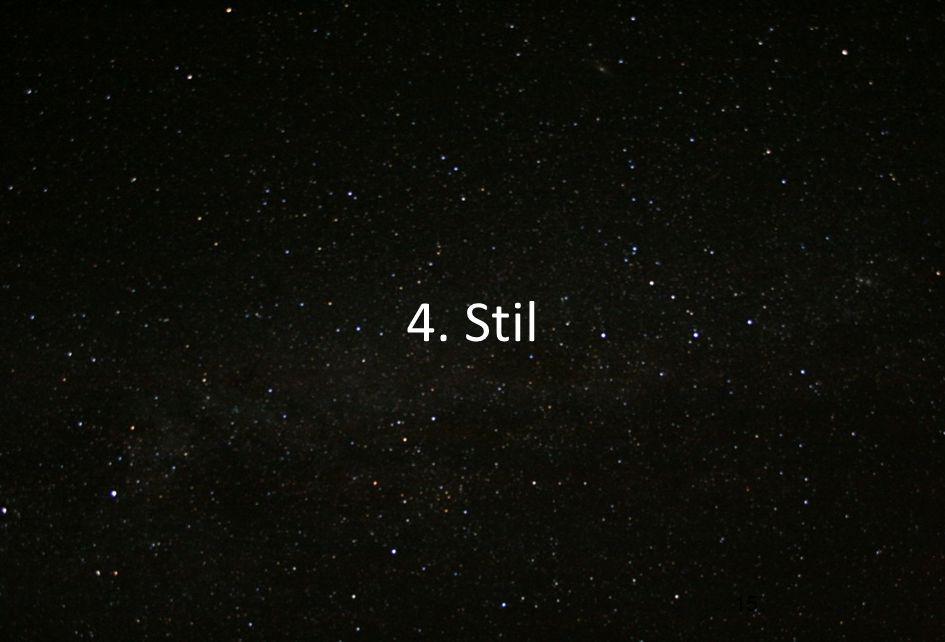 4. Stil