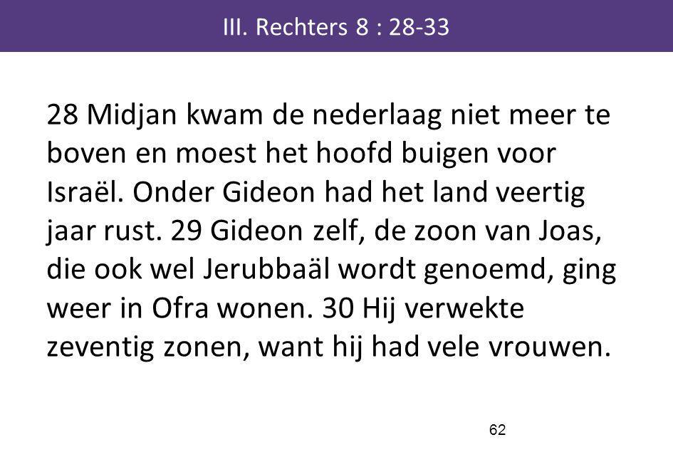 III. Rechters 8 : 28-33