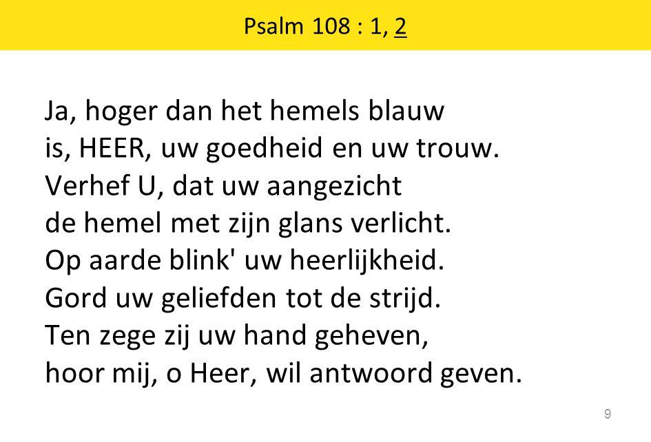 Psalm 108 : 1, 2