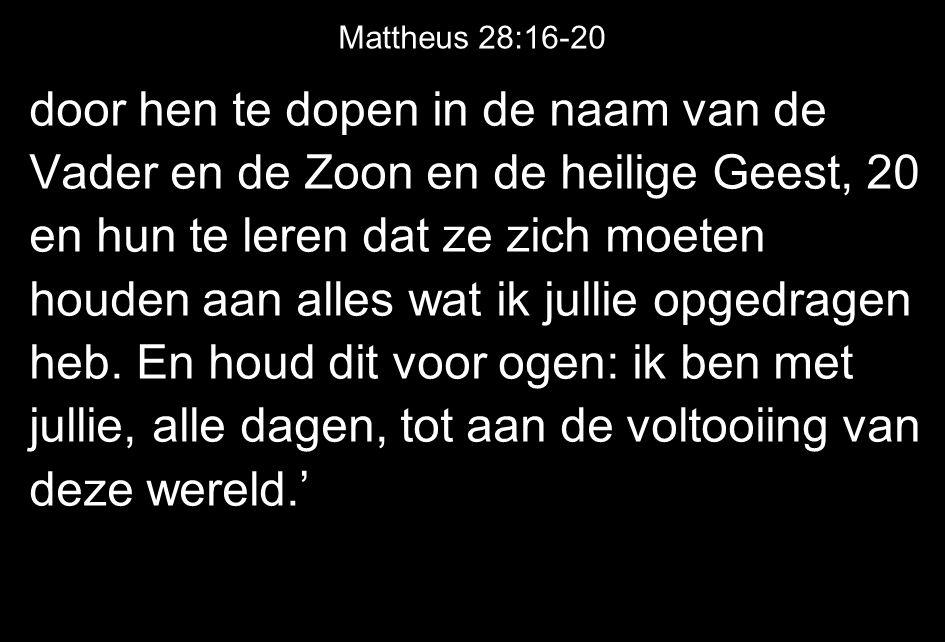 Mattheus 28:16-20