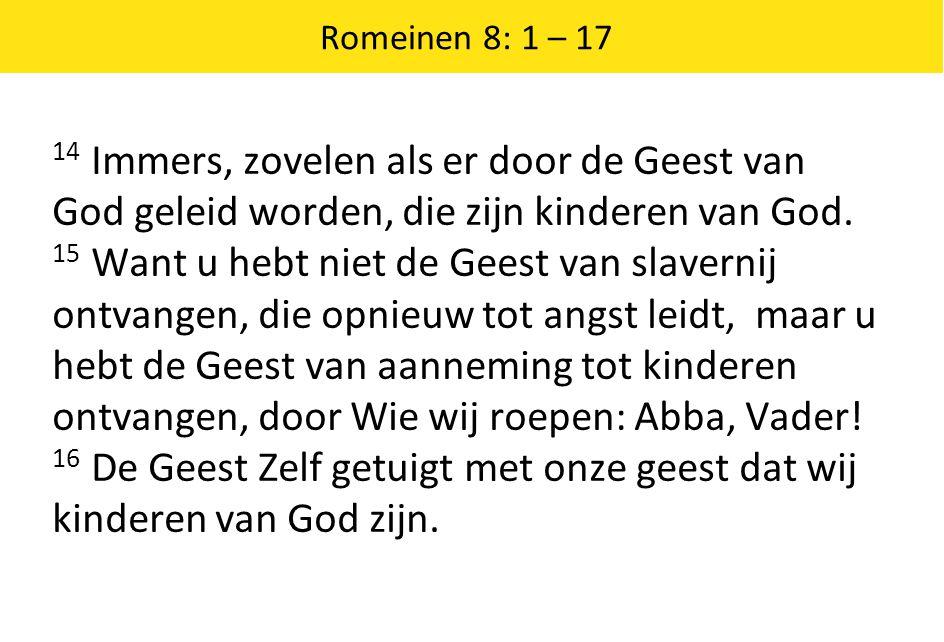 16 De Geest Zelf getuigt met onze geest dat wij kinderen van God zijn.