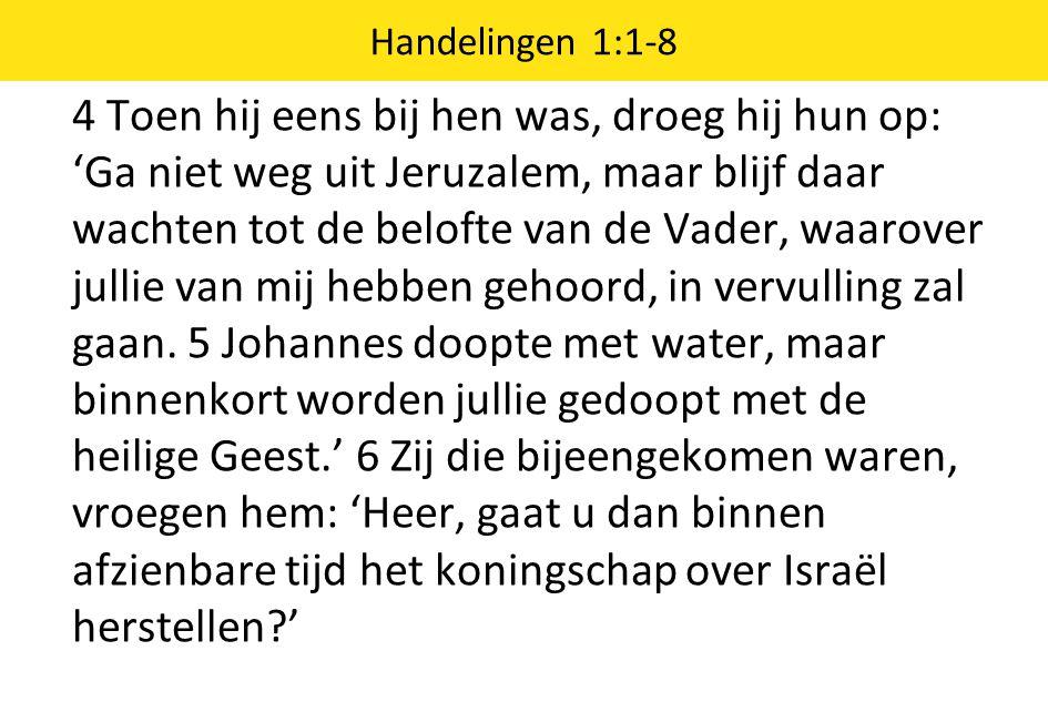 Handelingen 1:1-8