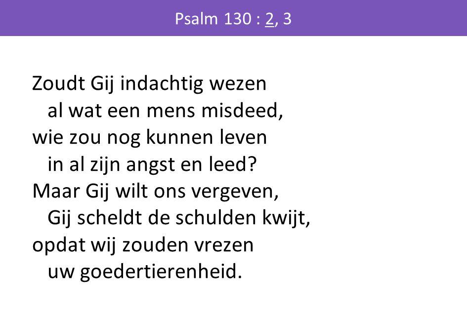 Psalm 130 : 2, 3