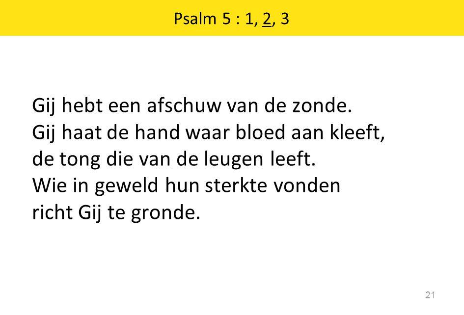 Psalm 5 : 1, 2, 3