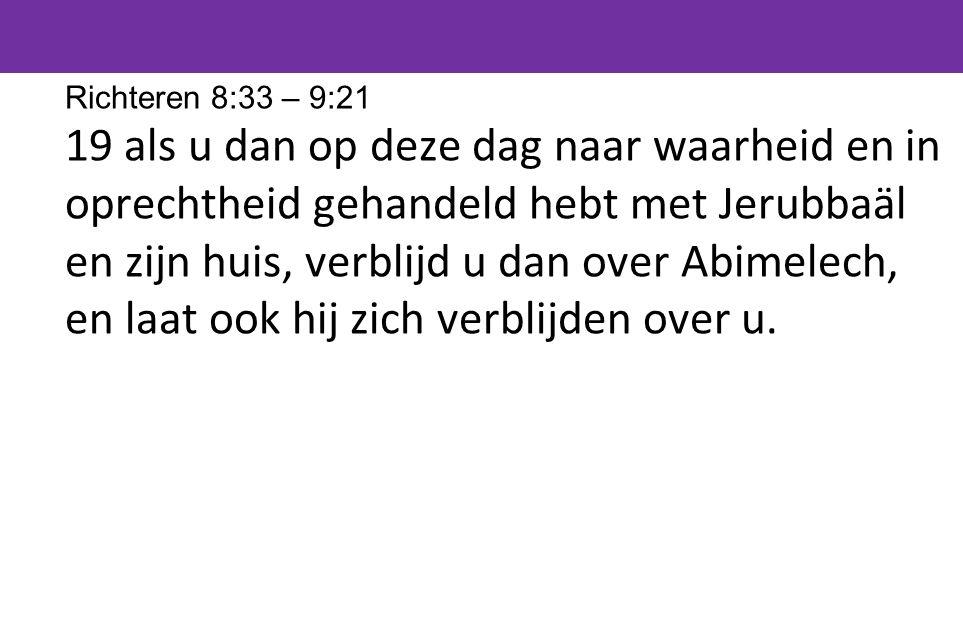 Richteren 8:33 – 9:21
