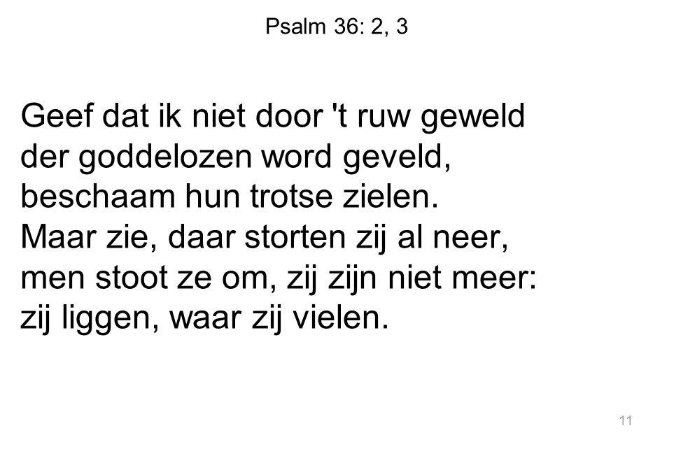 Psalm 36: 2, 3