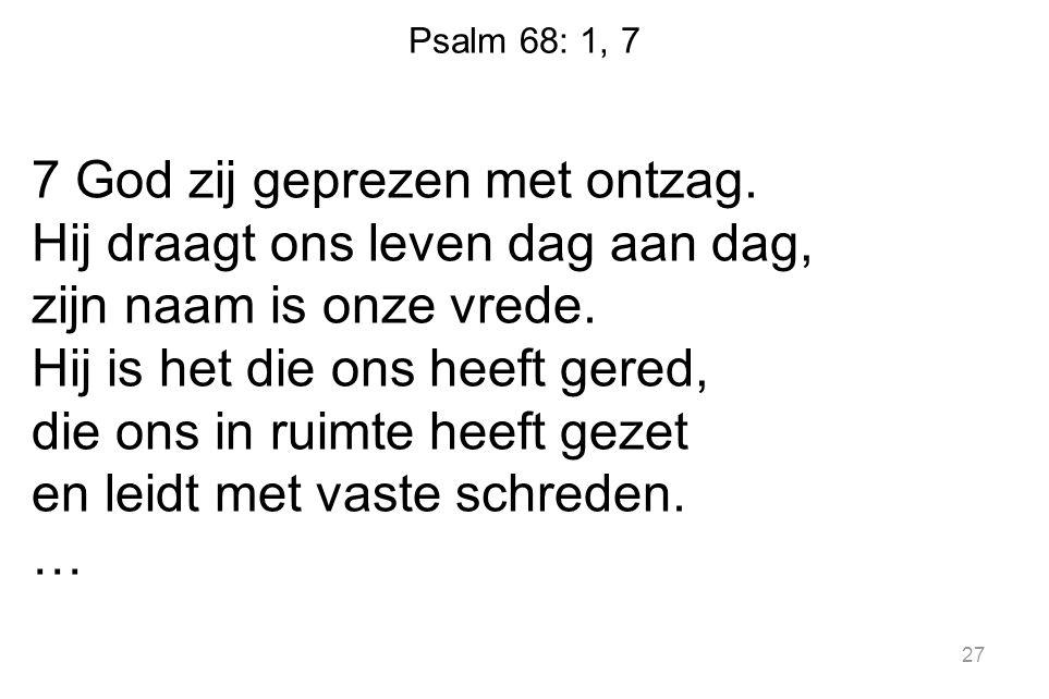 Psalm 68: 1, 7