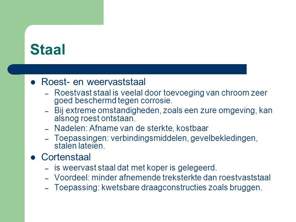Staal Roest- en weervaststaal Cortenstaal