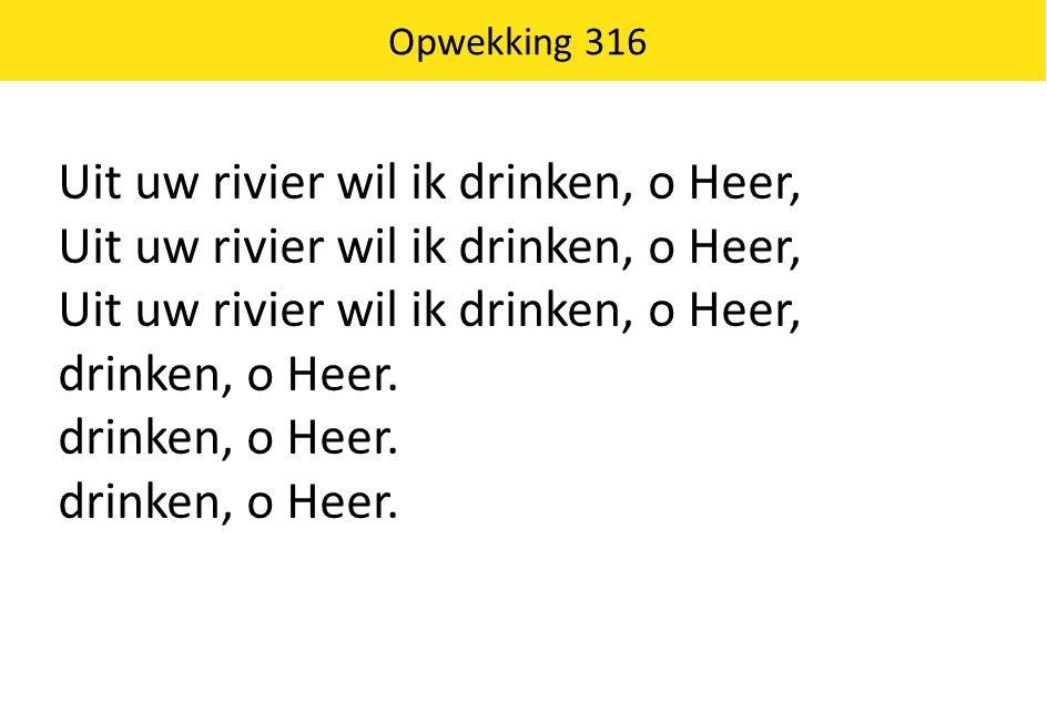 Uit uw rivier wil ik drinken, o Heer,