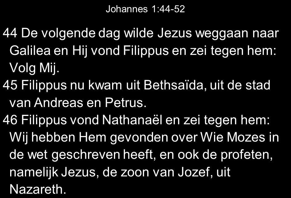 45 Filippus nu kwam uit Bethsaïda, uit de stad van Andreas en Petrus.