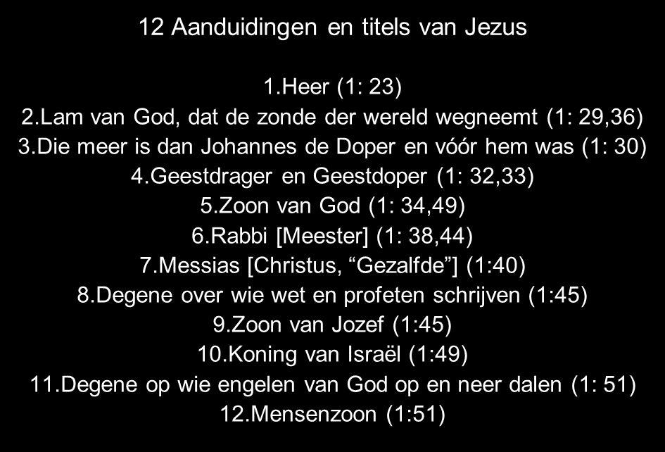 12 Aanduidingen en titels van Jezus