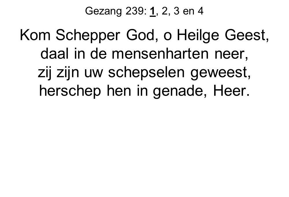Kom Schepper God, o Heilge Geest, daal in de mensenharten neer,