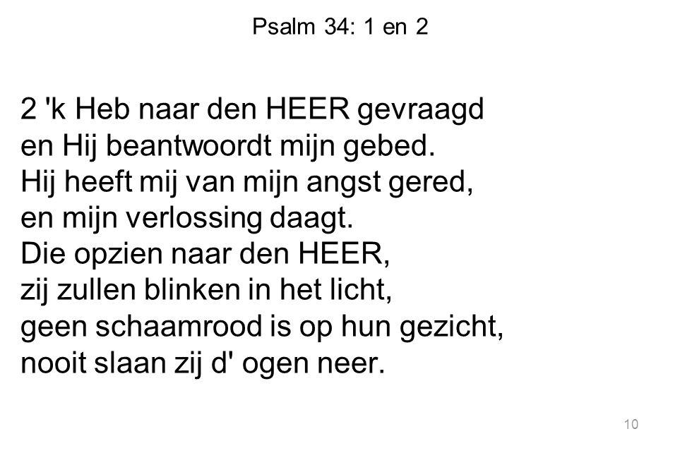 Psalm 34: 1 en 2