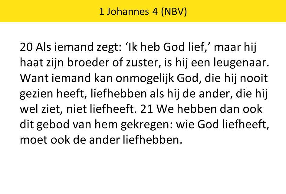 1 Johannes 4 (NBV)
