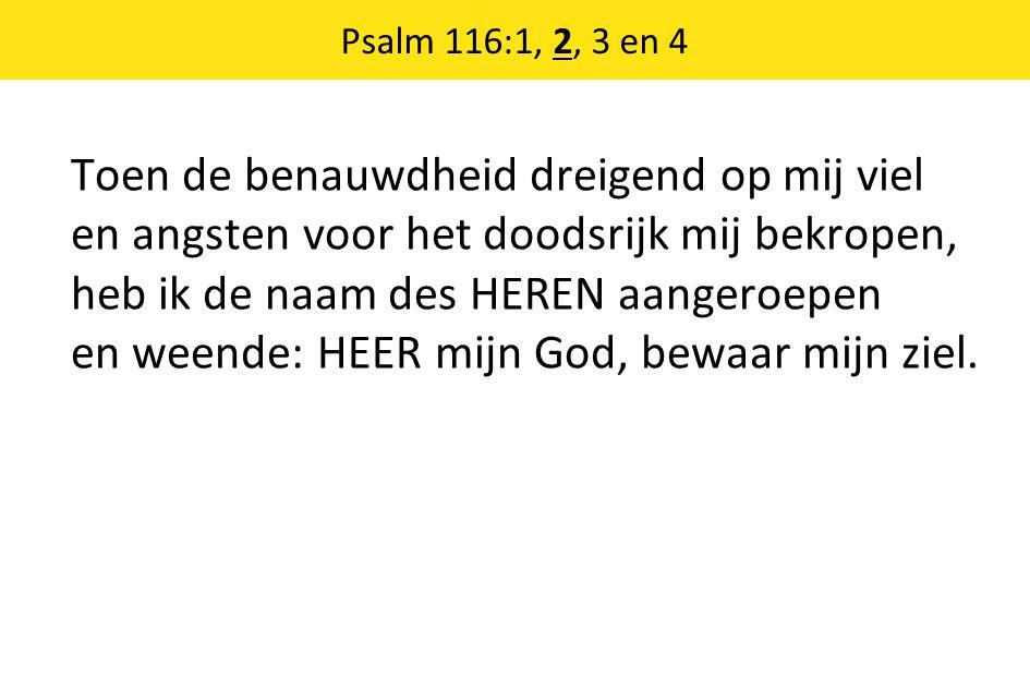 Psalm 116:1, 2, 3 en 4