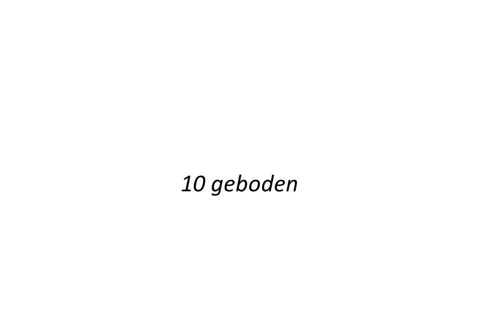 10 geboden 10 geboden