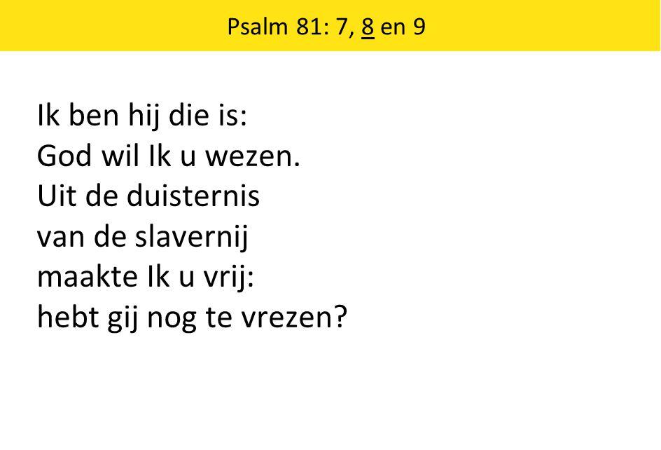 Ik ben hij die is: God wil Ik u wezen. Uit de duisternis