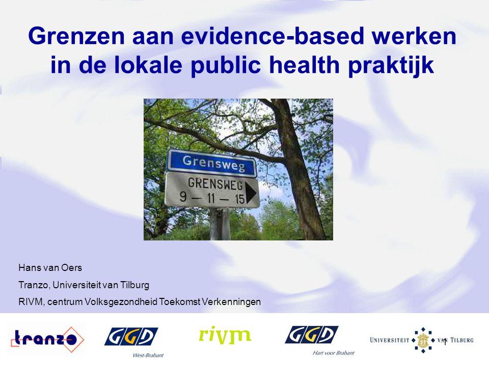 Grenzen aan evidence-based werken in de lokale public health praktijk
