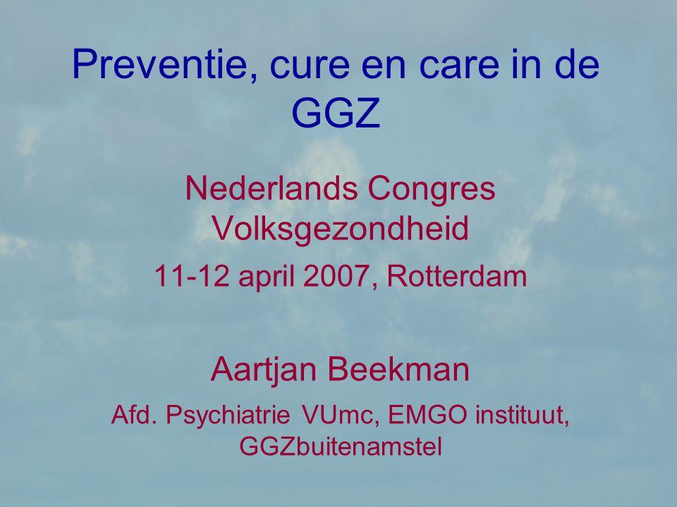 Preventie, cure en care in de GGZ