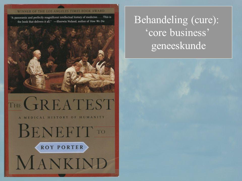 Behandeling (cure): 'core business' geneeskunde