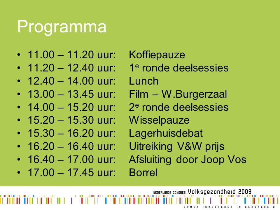 Programma 11.00 – 11.20 uur: Koffiepauze