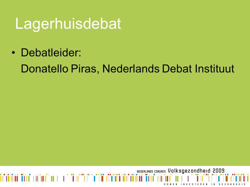 Lagerhuisdebat Debatleider: