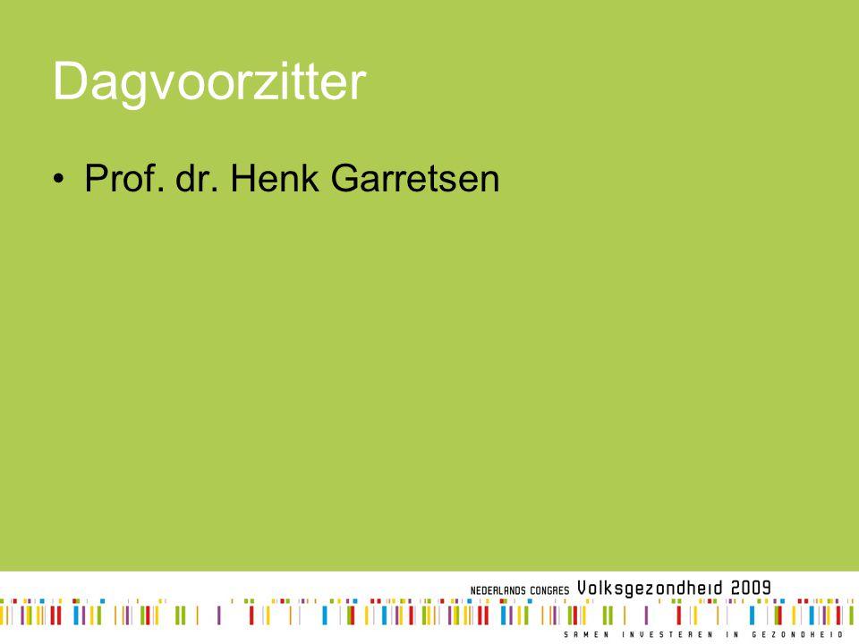 Dagvoorzitter Prof. dr. Henk Garretsen