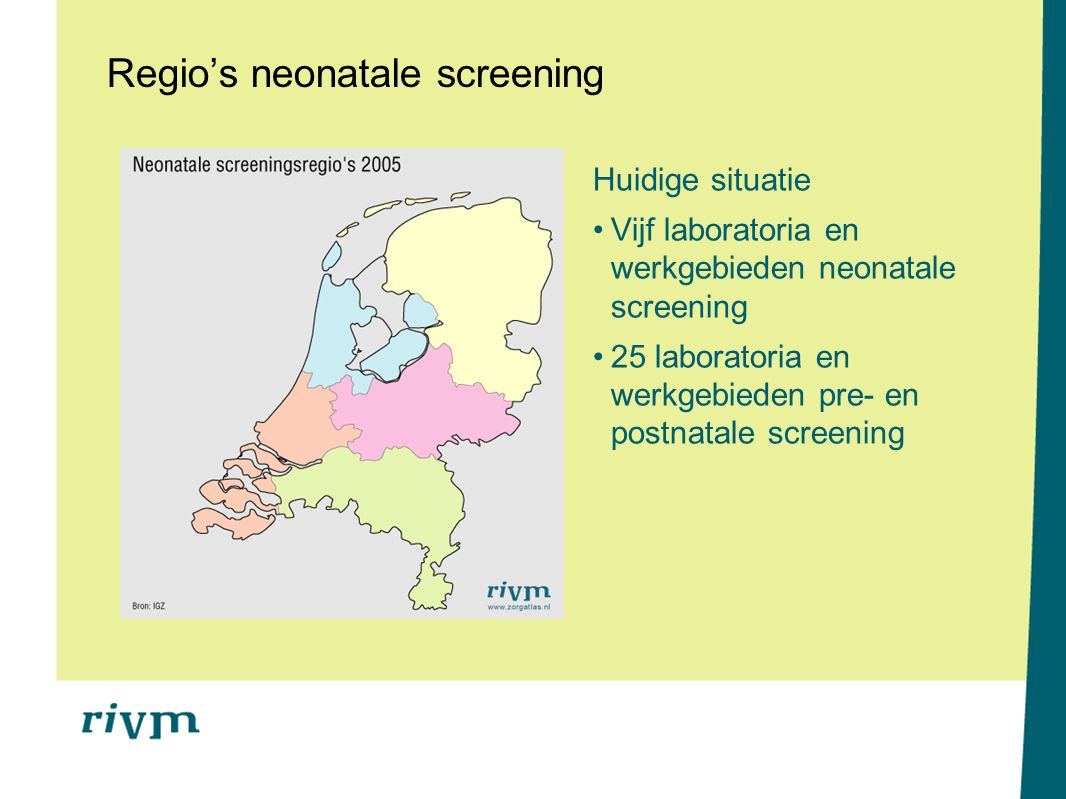 Regio's neonatale screening