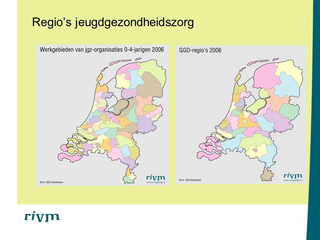 Regio's jeugdgezondheidszorg